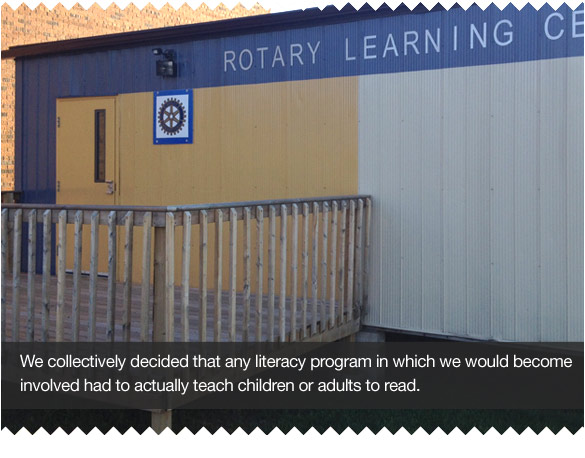 Teaching Literacy Skills to Underprivileged Children, Rotary Style